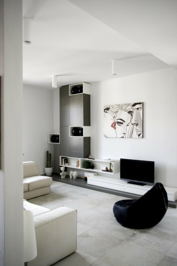 Sofa Weiß - 35 Wohnzimmereinrichtungen mit einem weißen Akzent