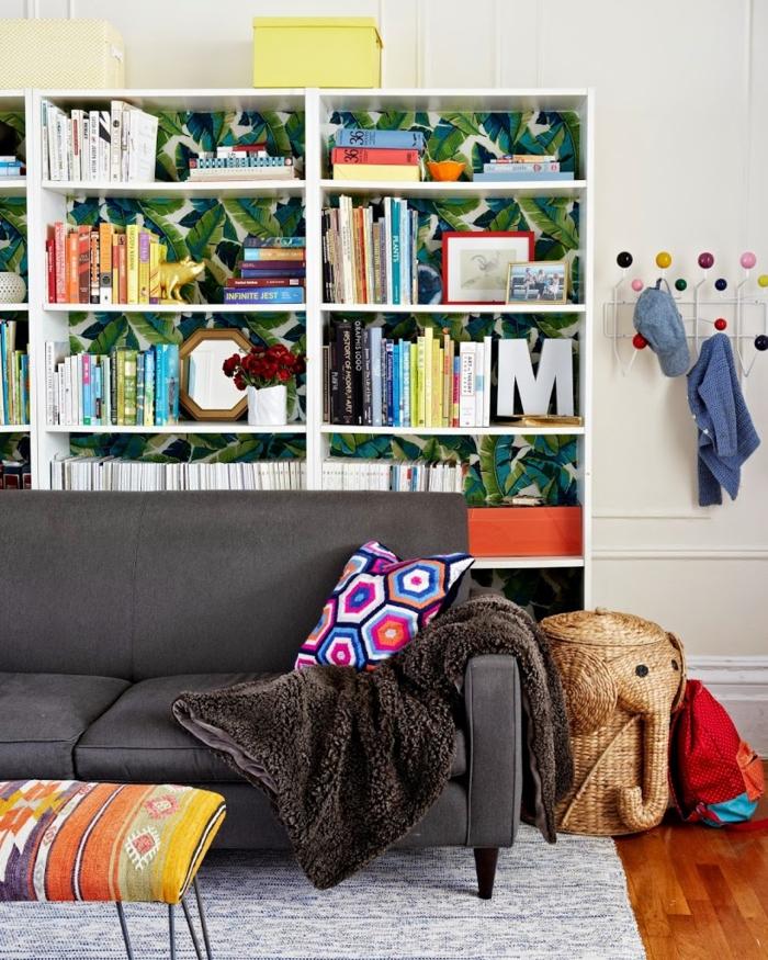 Wohnzimmer Einrichten Bereiche Aufbewahrungskorbe Spielzeuge Stauraum Ideen