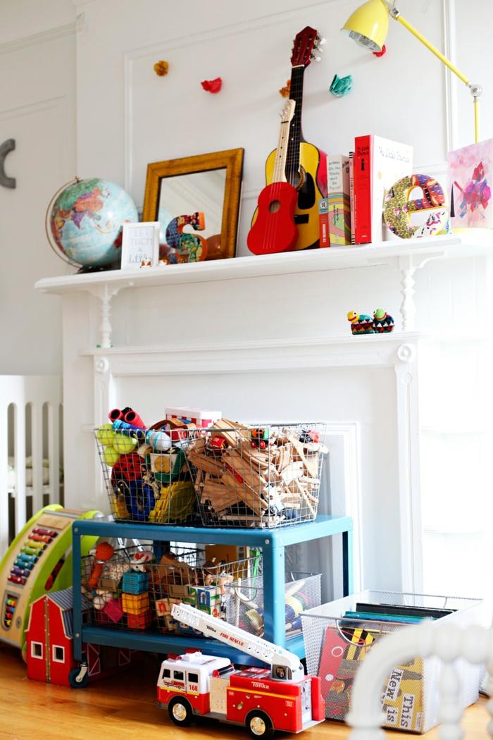 Wohnzimmer Einrichten Stauraum Ideen Spielzeuge Weisse Wande