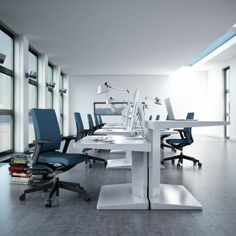 Büromöbel Design Kembo Alpha Schreibtisch Arbeiten im Stehen