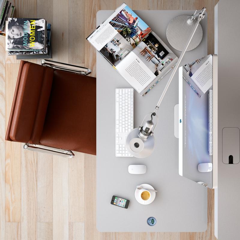 Büromöbel Design Kembo Alpha Schreibtisch Arbeitsplatz Ordnung