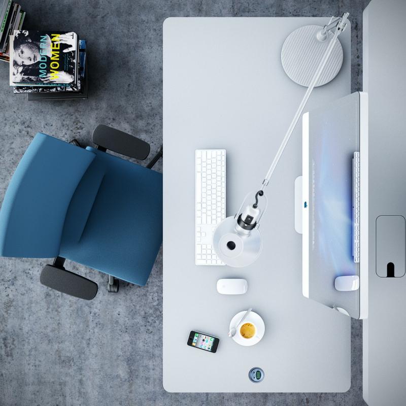 Büromöbel Design Kembo Alpha Schreibtisch Bürosessel