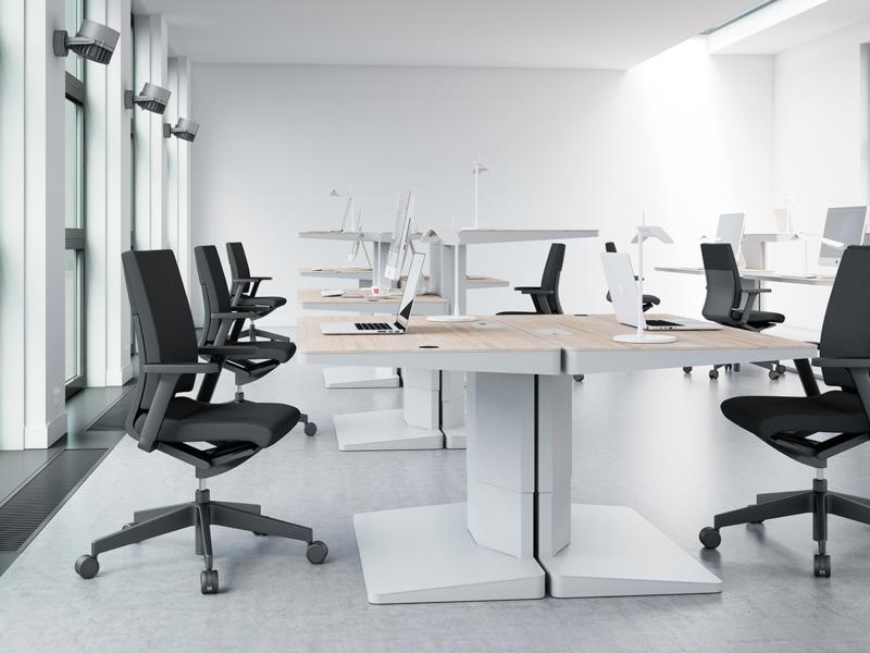 Büromöbel Design Kembo Alpha Schreibtisch Saal