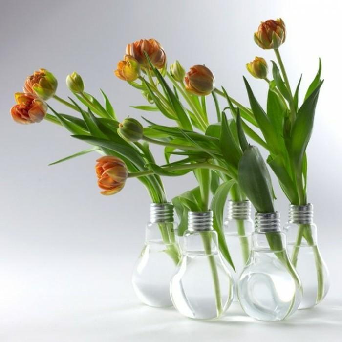 Deko Vasen kreative Dekoartikel Glühbirnen DIY Ideen