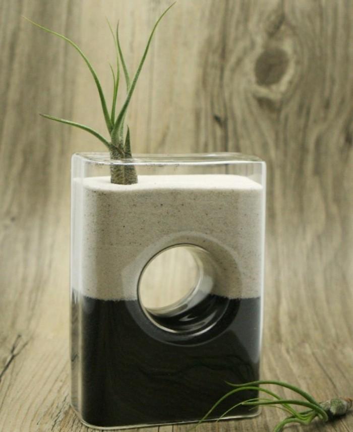Deko Vasen kreative Dekoartikel Glasvase mit Sand für Sukkulenten
