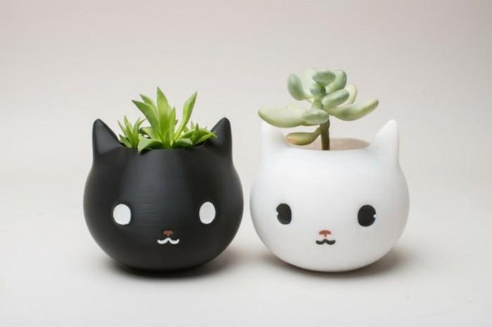 Deko Blumenvase kreative Dekoartikel Katzen Sukkulenten Behälter