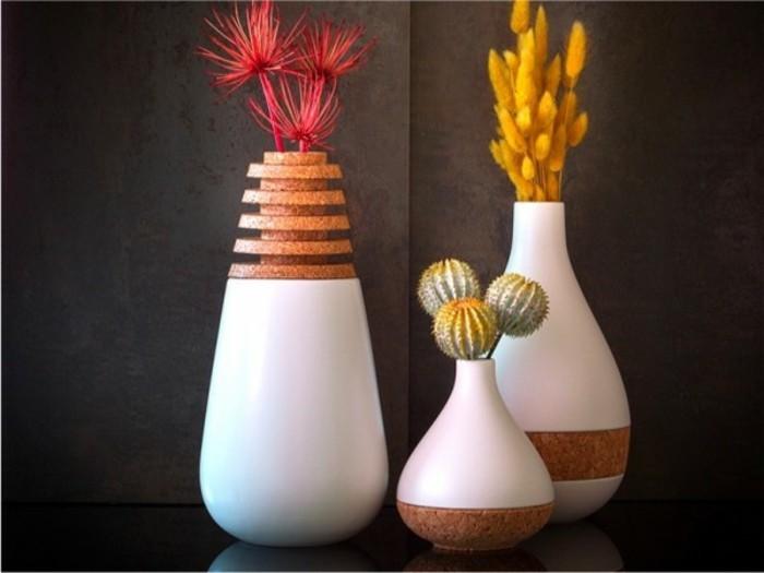 Deko Blumenvase kreative Dekoartikel Kork und Porzellan