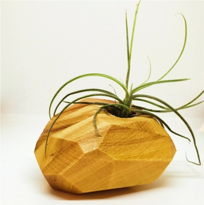Deko Blumenvase kreative Dekoartikel komplett aus Holz