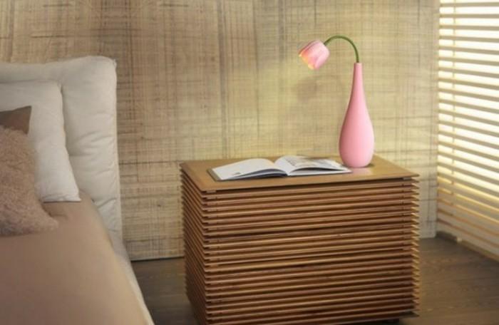 Deko Blumenvase kreative Dekoartikel rosa Tulpe Nachttisch