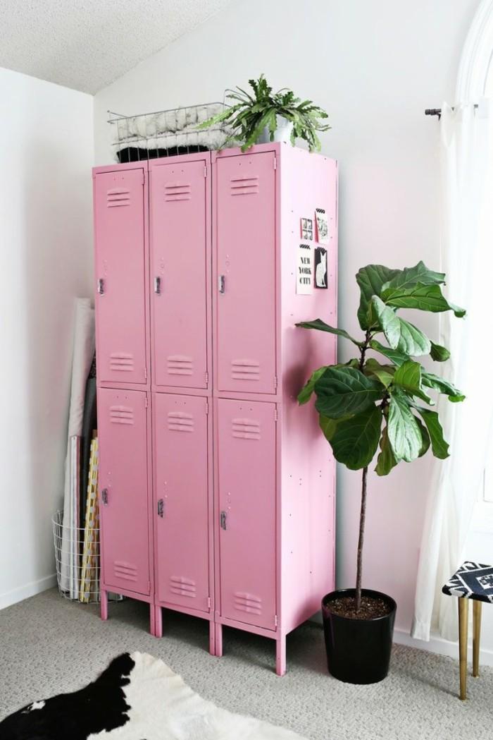 Der Spind kaufen Spinde dreier farbgestaltung widerverwenden tapeten muster schulschließfach kinderzimmer rosa