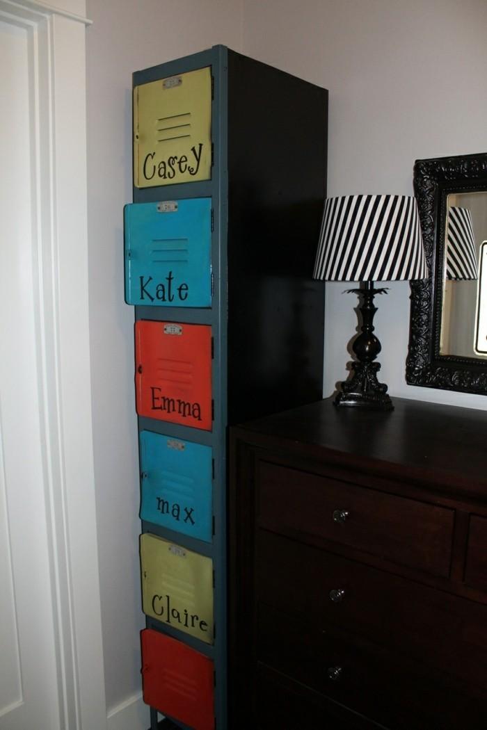 Der Spind kaufen Spinde dreier farbgestaltung widerverwenden tapeten muster schulschließfach kinderzimmer2