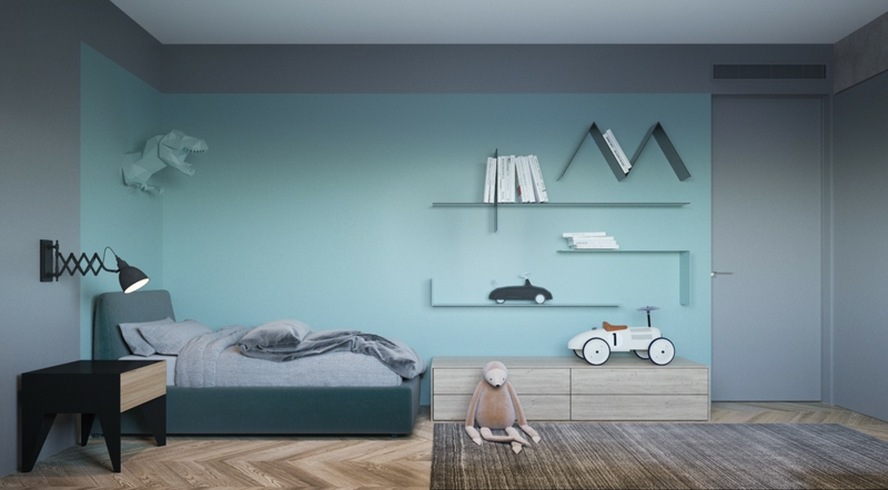 Wunderbar Designer Ideen Kinderzimmer Gestalten Wandfarben Kombinieren Blau Lila