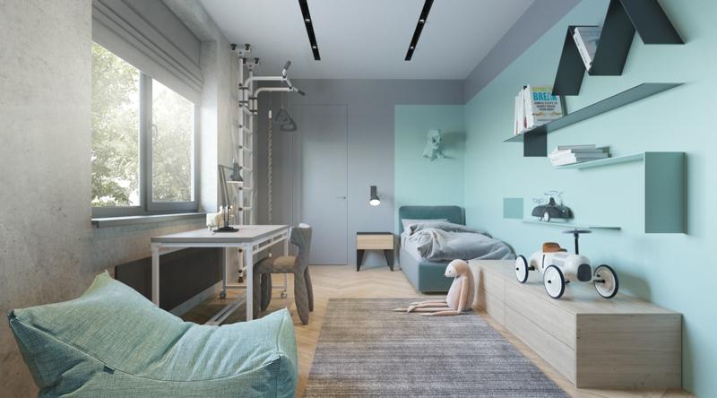 Designer Ideen Kinderzimmer Gestalten Wandfarben Kombinieren