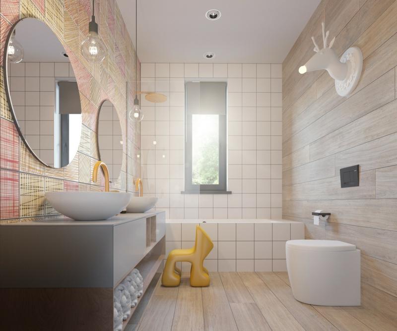 Designer Kinderzimmer Ideen Badezimmer Badfliesen Deko