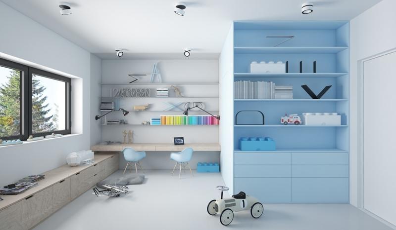 kinderzimmer ideen - kinderzimmer gestalten wie ein profi - Kinderzimmer Regal Blau