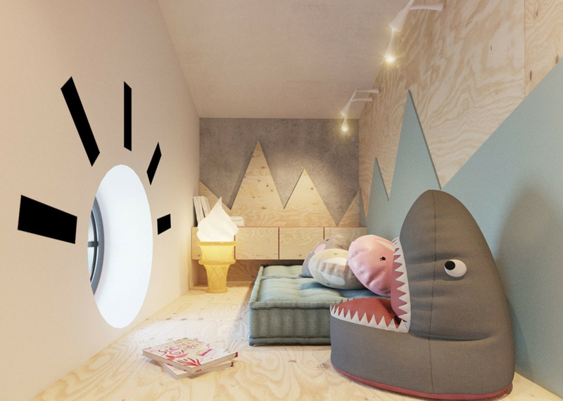 Designer Möbel Kinderzimmer Ideen Sessel Haifisch