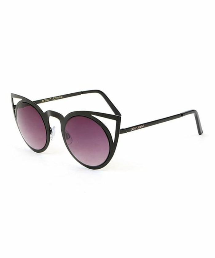 Designer Sonnenbrillen Accessoires Katzenaugen Brille schwarze Rahmen