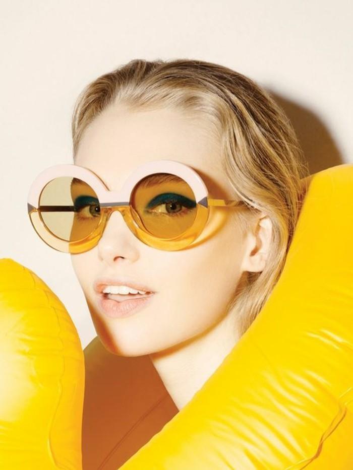 Designer Sonnenbrillen Damen Modetrends Accessoires Sonnenbrille gelb