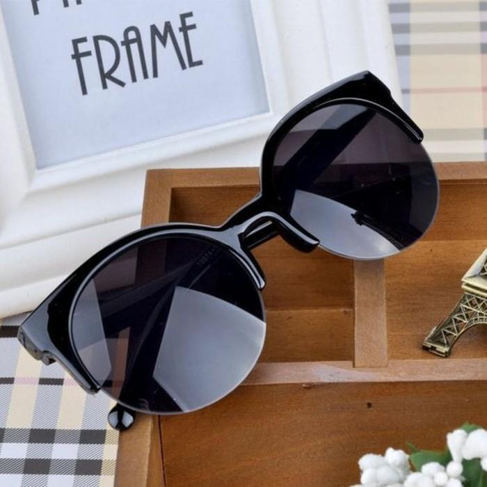 Designer Sonnenbrillen Damen Modetrends Accessoires schwarze Rahmen