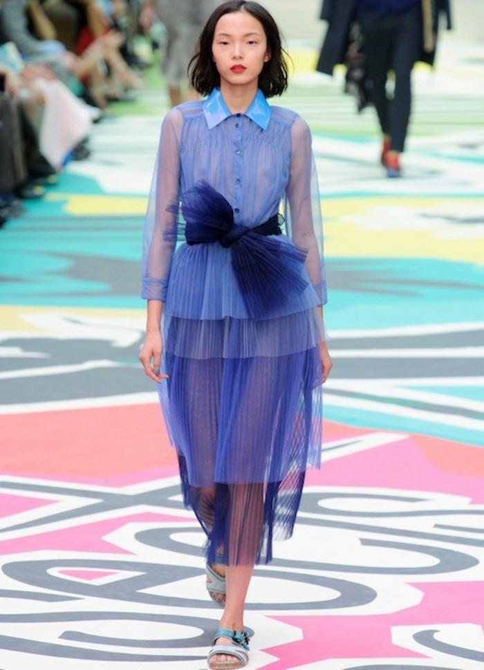 Durchsichtige Kleider Designer Laufstegmode transparente Mode