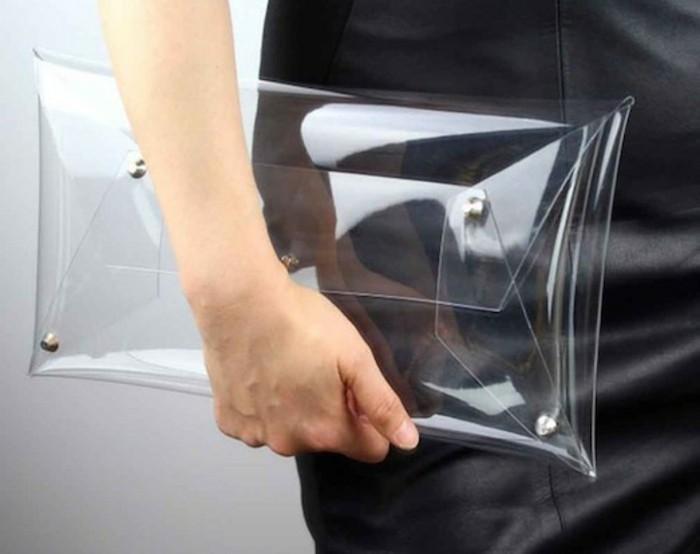 Durchsichtige Kleider Designer Laufstegmode transparente Tasche Clutch
