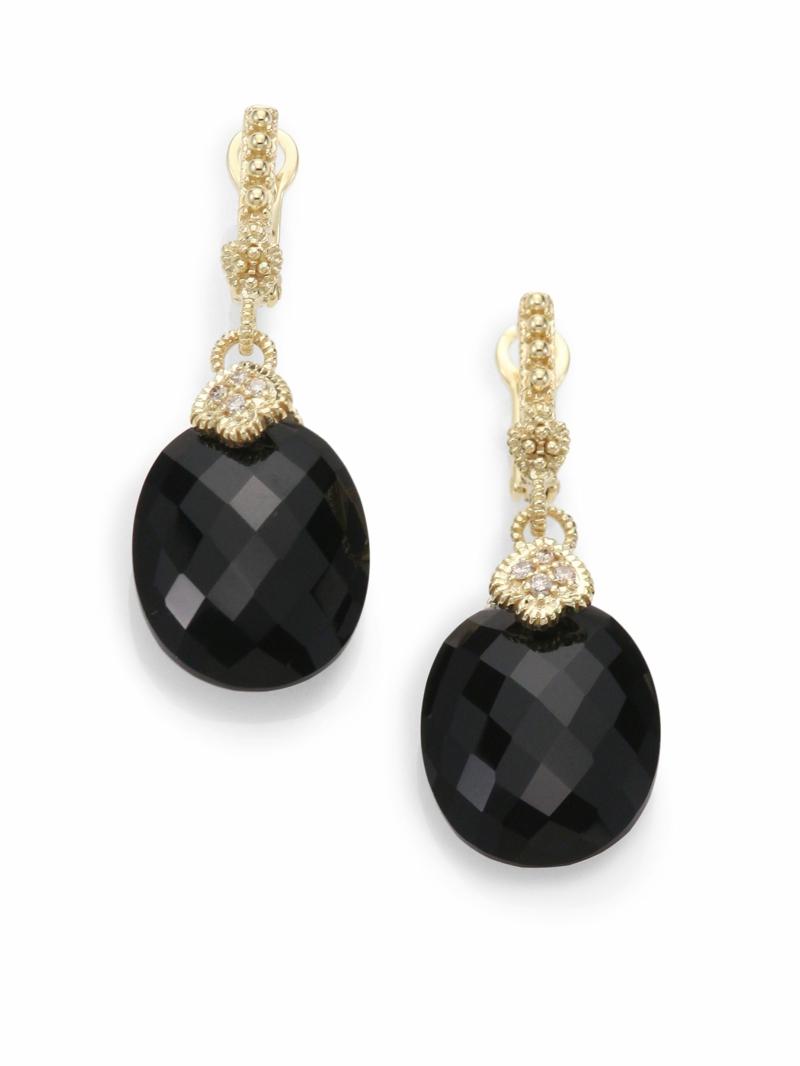 Edelsteine und Sternzeichen Steinbock schwarzer Onyx Ohrringe