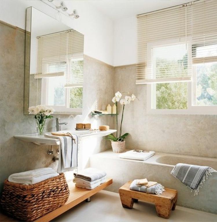 Feng Shui Badezimmer Einbuwanne Zimmerpflanzen Orchidee