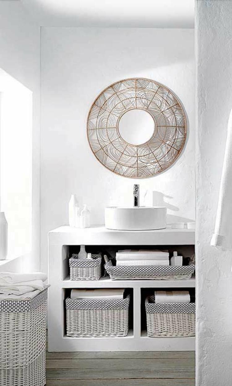 Feng Shui Badezimmer weiß Zimmerpflanzen