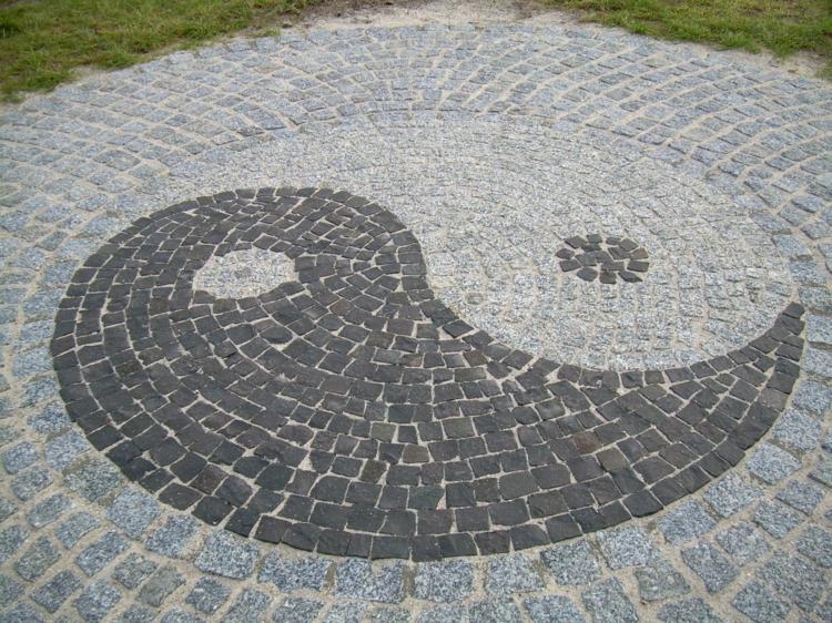Feng Shui Bilder Gartengestaltung mit Steinen Energie