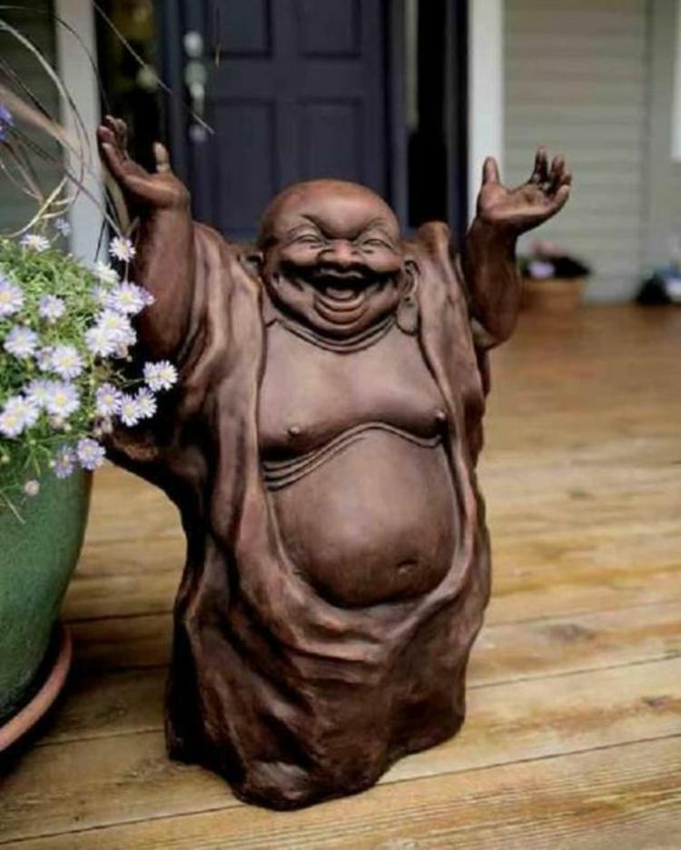 Feng Shui Bilder Holz Statue Glücksbringer positive Energie