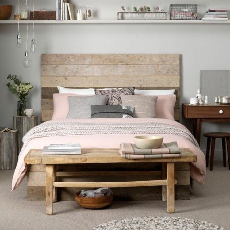 Feng Shui Schlafzimmer Bett Bank Holzmöbel