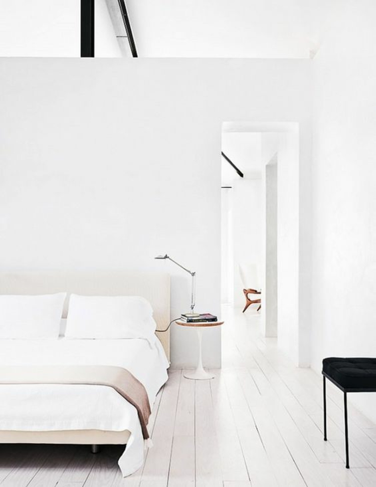Feng Shui Schlafzimmer einrichten Farbe weiß