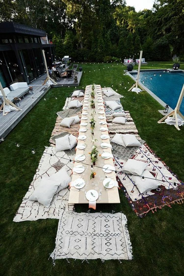 Gartenparty Deko selber machen DIY Tischdeko Ideen
