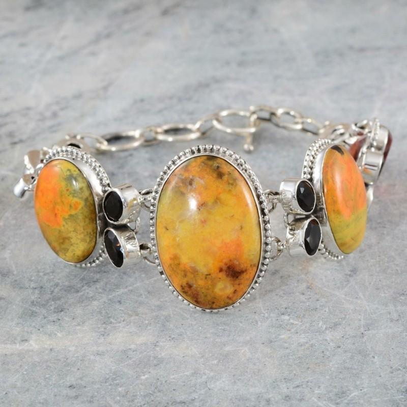 Jungfrau Sternzeichen Edelsteine gelber Jaspis Armband