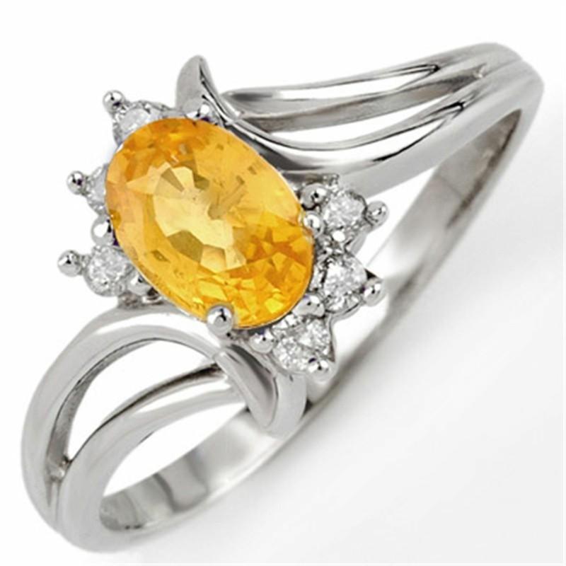Jungfrau Sternzeichen Edelsteine gelber Saphir Ring