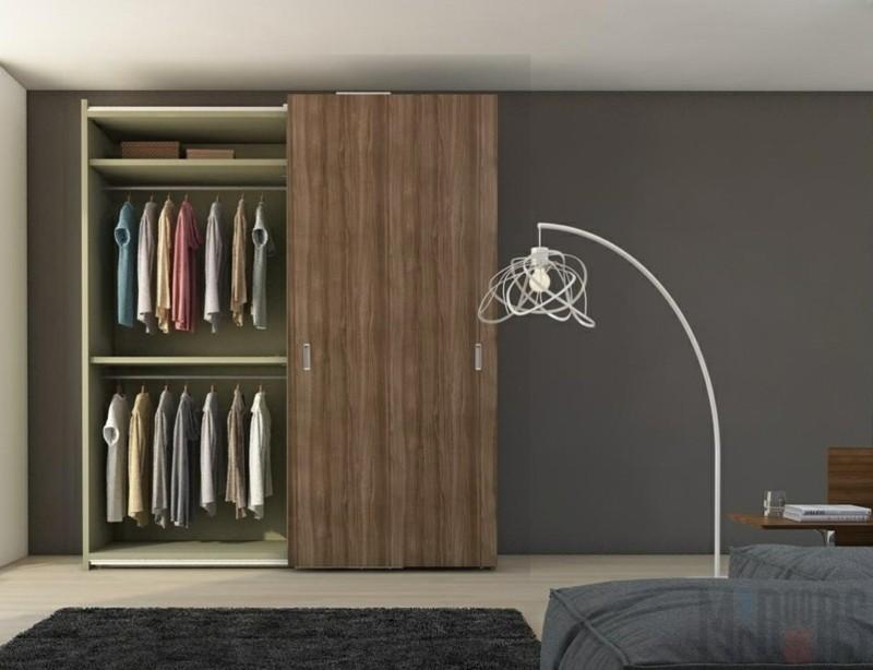 Kleiderschränke mit Schiebetüren Holz Männer Schlafzimmer