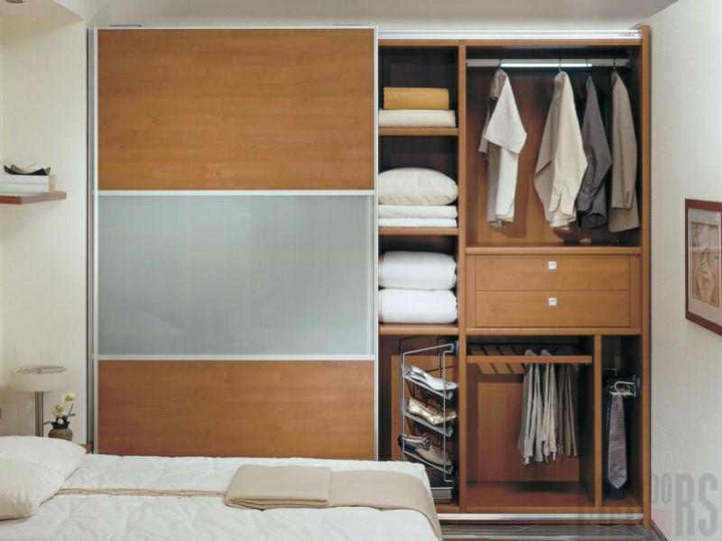 Kleiderschränke mit Schiebetüren Holz Schlafzimmer Möbel
