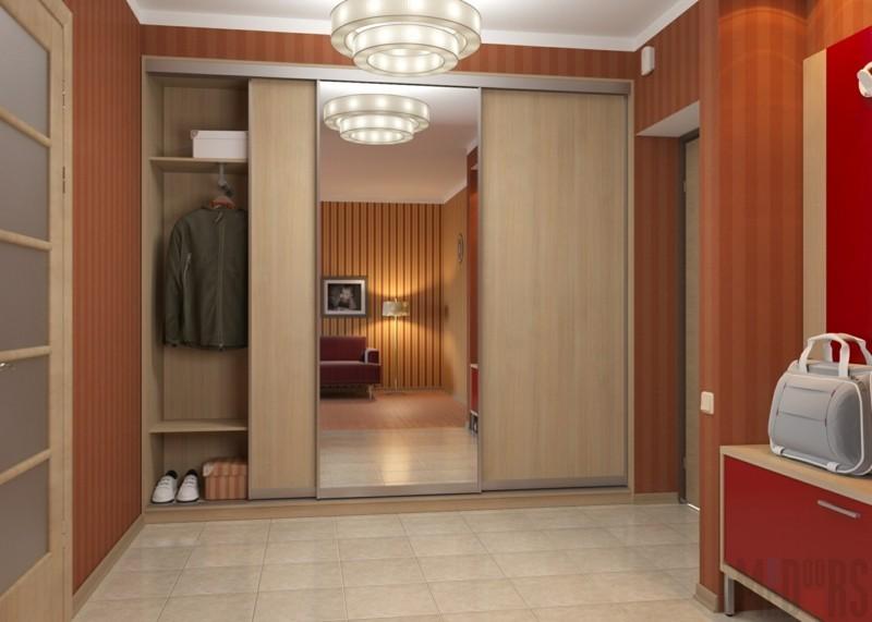 Kleiderschränke mit Schiebetüren Holz Spiegel