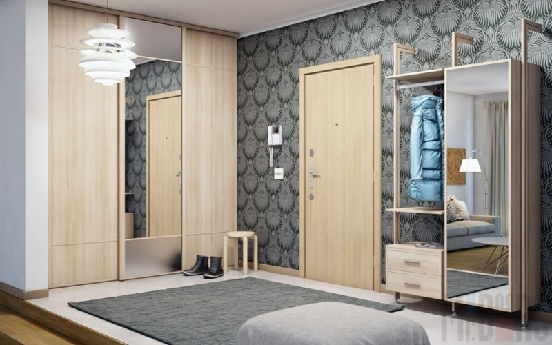 Kleiderschränke mit Schiebetüren Holz Spiegeltür