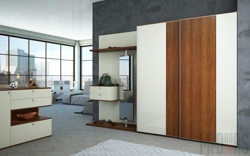 Kleiderschränke mit Schiebetüren Holzmöbel Design