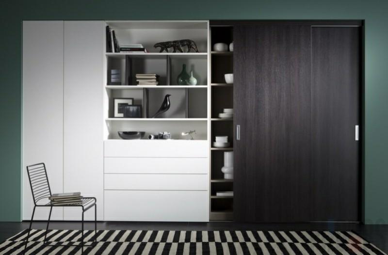 Kleiderschränke mit Schiebetüren schwarz weiß