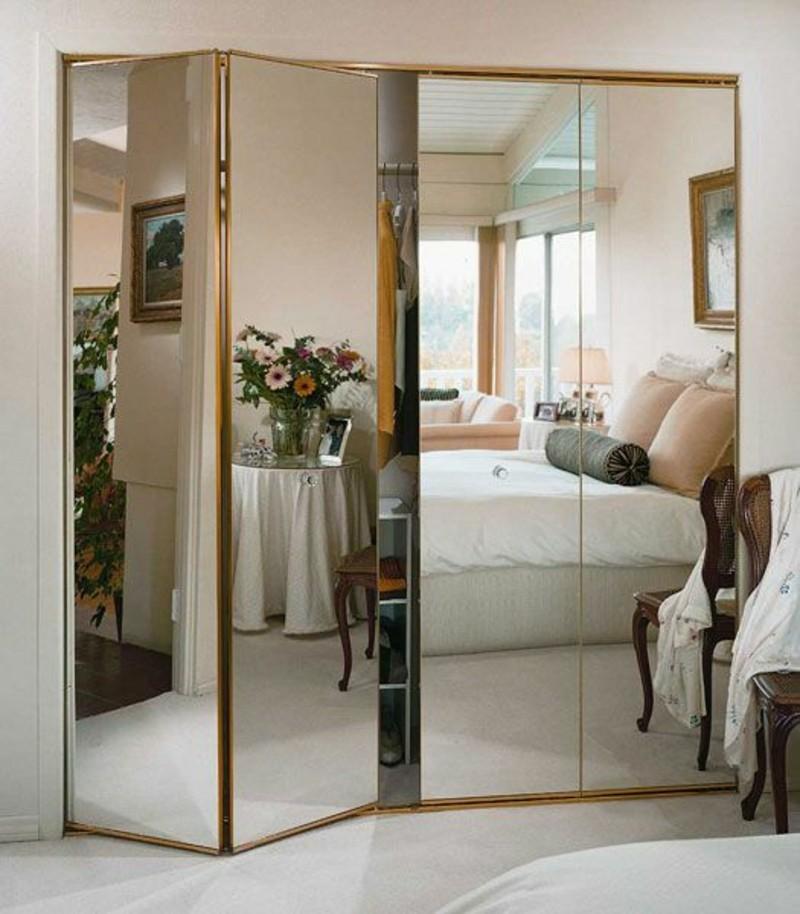 Kleiderschrank mit Schiebetüren Spiegeltüren Schlafzimmer Ideen