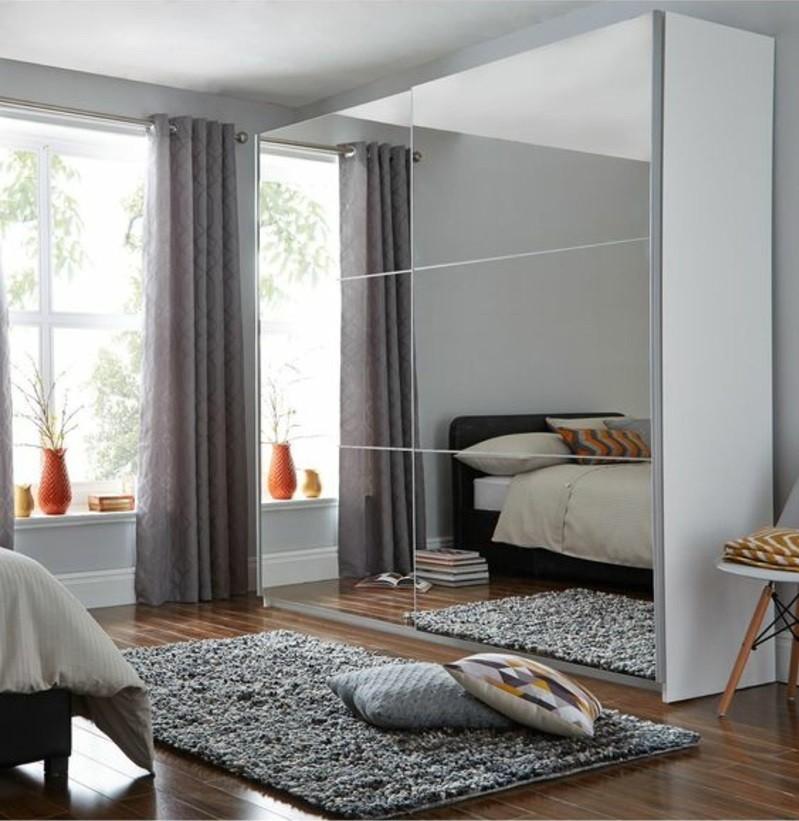 Kleiderschrank mit Schiebetüren Spiegeltüren Schlafzimmer Möbel