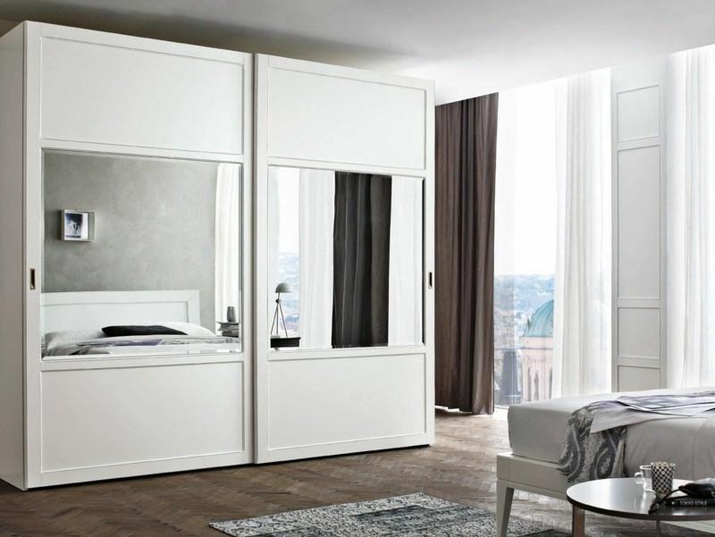 Kleiderschrank mit Schiebetüren raumhoch Spiegel Schlafzimmermöbel