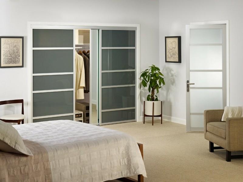 minimalistische Schlafzimmer Möbel Kleiderschränke begehbarer Schrank