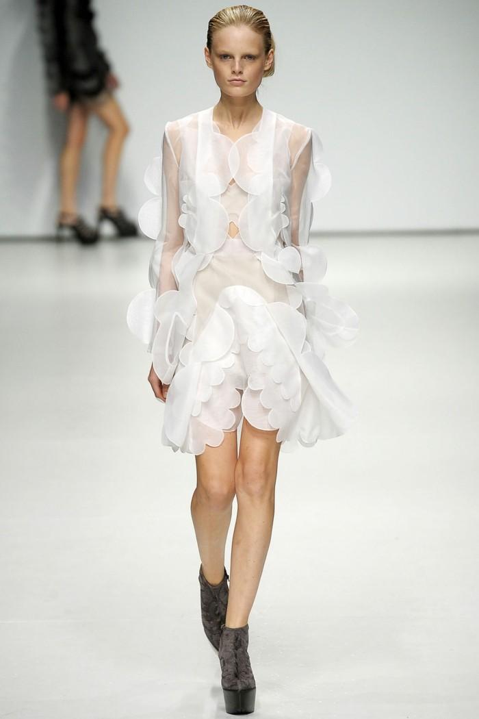 Modetrends Laufstegmode durchsichtige Kleider