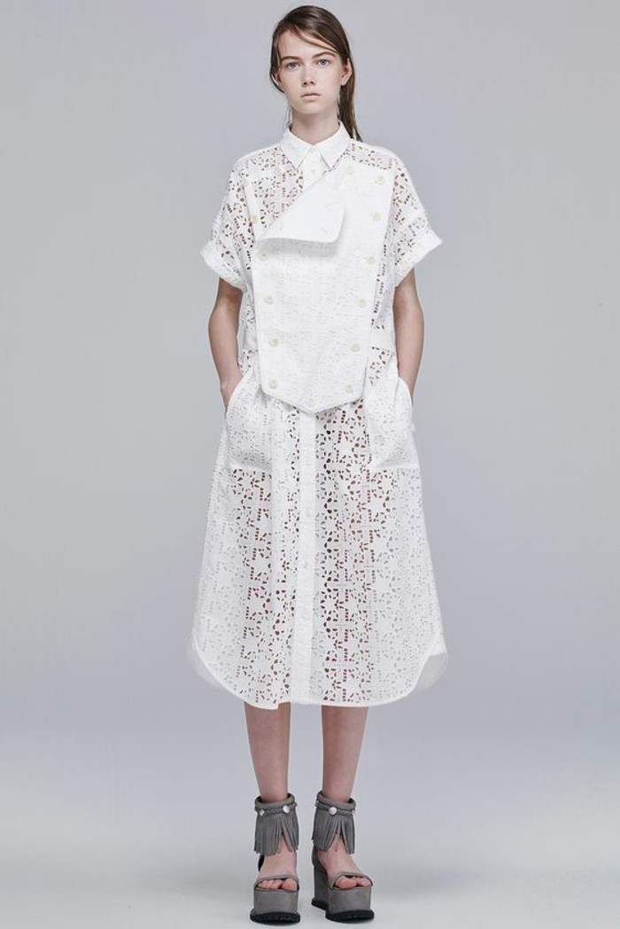 Modetrends Sommermode transparente Kleider Bilder