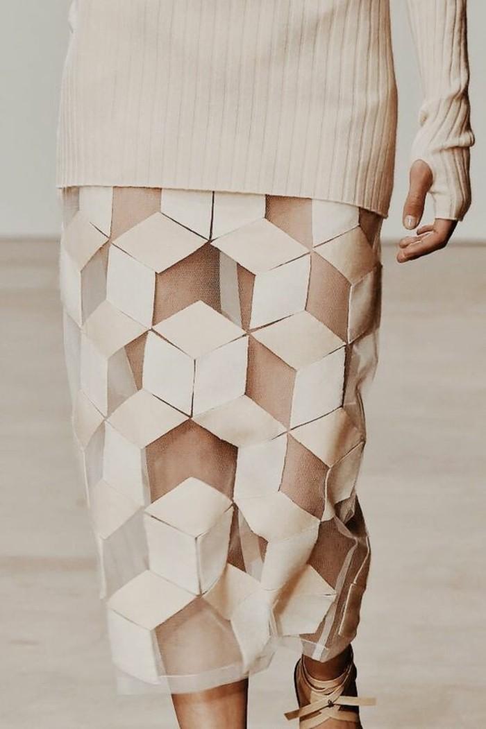 Modetrends durchsichtige Kleider Designer Mode Rock
