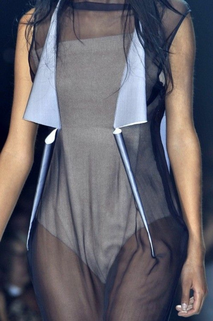 Modetrends durchsichtige Kleider Laufstegmode Kleid