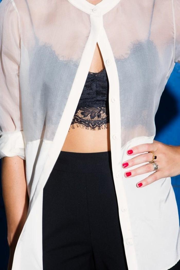 Modetrends transparente Kleider Sommermode Mantel